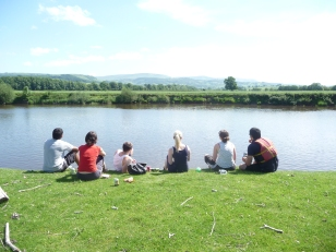 Picnic stop near Hay on Wye